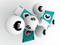 Lottery win Stock Image