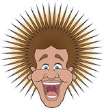Lottery Winner. Ecstatic man has just received some very good news causing his hair to stand on end Royalty Free Stock Images