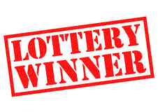 LOTTERY WINNER stock illustration