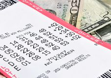 Lottery winnings Royalty Free Stock Photo