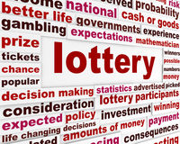 Lottery word clouds message Royalty Free Stock Photography