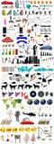 Lotti degli elementi dell'illustrazione Fotografia Stock