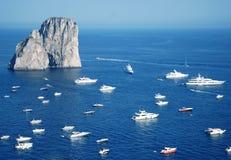 Lotti degli yacht Immagine Stock