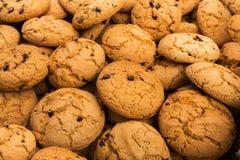 Lotti dei biscotti e del fondo dei biscotti fotografie stock