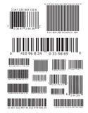 Lotti dei codici a barre Fotografie Stock