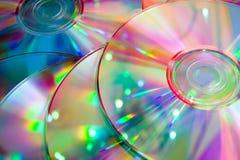 Lotti dei dischi del Cd di colore Immagini Stock Libere da Diritti
