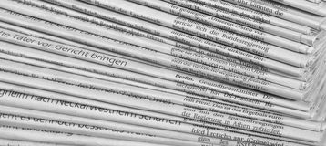 Lotti dei giornali Fotografia Stock