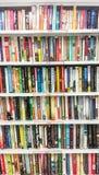 Lotti dei libri di romanzo in uno scaffale Fotografie Stock