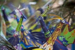 Lotti del pavone della carta della pittura sulla morte Immagine Stock Libera da Diritti