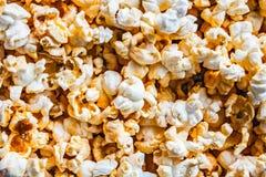 Lotti del primo piano fresco del popcorn Macro colpo Immagine Stock Libera da Diritti