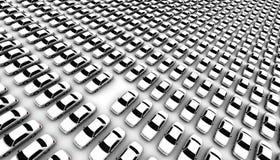 Lotti delle automobili, un Missing Fotografia Stock