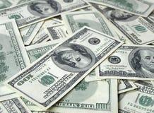 Lotti delle banconote in dollari Fotografia Stock