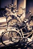 Lotti delle biciclette fotografie stock libere da diritti