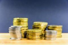 Lotti delle monete ceche metalliche Fotografie Stock Libere da Diritti