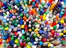 Lotti delle penne fotografie stock