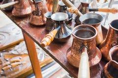 Lotti di caffè turco d'annata Immagine Stock Libera da Diritti