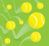 Lotti di rimbalzo di palline da tennis illustrazione vettoriale