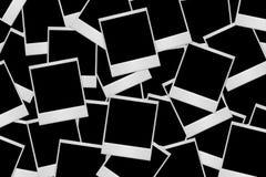 Lotti di vecchi spazii in bianco della pellicola del Polaroid dell'annata Fotografia Stock