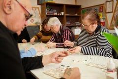 Lotto - övningar för utveckling av uppmärksamhet Royaltyfria Foton