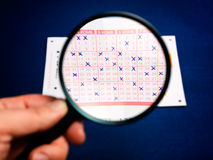 Lotto Analysis Royalty Free Stock Images
