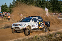 Lotto Baja Poland eight round of this year's FIA World Cup for Cross Country Rallies Royalty Free Stock Image