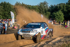 Lotto Baja Poland eight round of this year's FIA World Cup for Cross Country Rallies Royalty Free Stock Photography