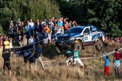 Lotto Baja Polen, Runde acht von diesjährigem FIA World Cup für Cross Country sammelt Lizenzfreie Stockfotografie