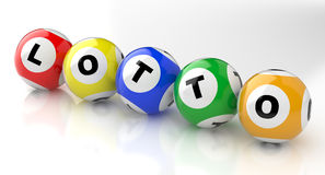Lotto balls Stock Photo