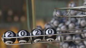 Lotto balls make up 2020 number. 3D rendering. Lotto balls make up 2020 number. 3D Stock Images