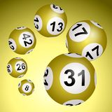 Lotto balls on a white background vector illustration