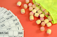Lotto cards barrel Stock Image