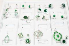 Lotto degli orecchini del phianite Immagini Stock Libere da Diritti