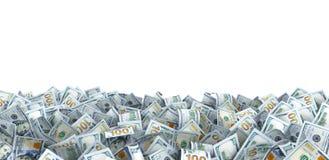 Lotto dei bancnotes del dollaro con un posto per il vostro testo Fotografie Stock Libere da Diritti