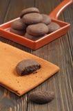 Lotto dei biscotti dell'arachide Fotografia Stock
