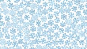 Lotto dei fiocchi di neve bluastri, fondo bianco royalty illustrazione gratis