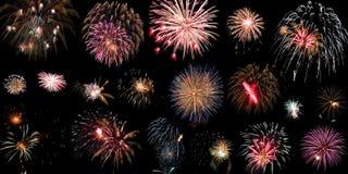 Lotto dei fuochi d'artificio Immagine Stock Libera da Diritti