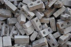 Lotto dei mattoni grigi Fotografia Stock Libera da Diritti