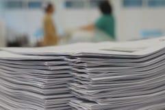 Lotto del documento della copia all'ufficio Immagini Stock Libere da Diritti