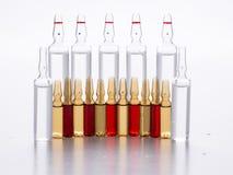 Lotto delle ampolle Immagine Stock