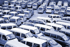 Lotto delle automobili Fotografie Stock Libere da Diritti