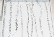 Lotto delle catene d'argento Fotografia Stock