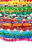 Lotto delle perle colorate dai minerali e dalla pietra differenti Immagini Stock
