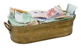 Lotto di euro soldi Immagine Stock
