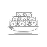 Lotto di soldi Fotografia Stock Libera da Diritti