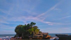 Lotto di Tanah, Bali Indonesia fotografia stock libera da diritti