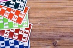 Lotto- eller Bingoleklegitimationshandlingar Royaltyfria Foton