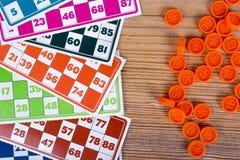 Lotto- eller Bingoleklegitimationshandlingar Royaltyfri Foto