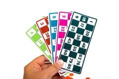 Lotto- eller Bingoleklegitimationshandlingar Royaltyfri Bild