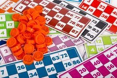 Lotto- eller Bingoleklegitimationshandlingar Royaltyfri Fotografi