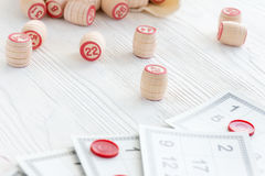 Lotto för brädelek Arkivbild